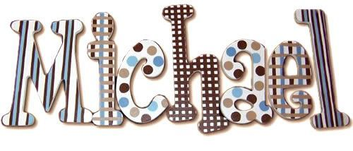 Blue Brownie Hand Painted Wall Letters