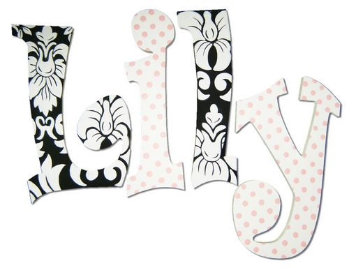 Lily Damask Painted Wall Letters