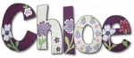 Mulberry Florals Hand Painted Wall Letters