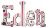 Soda Pop Pink Hand Painted Wall Letters