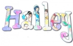 Fairies Hand Painted Wall Letters