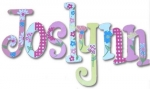 Pink Daisy Garden 2 Hand Painted Wall Letters
