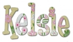 Whimsical Emily Bedding Hand Painted Wall Letters
