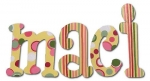 Tutti Frutti Pinks Hand Painted Wall Letters