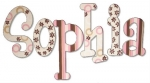 Pink Chocolate Hand Painted Wall Letters