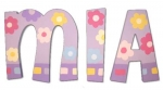 Fun Flowers Hand Painted Wall Letters