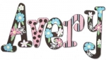 Trendlab Blossoms Hand Painted Wall Letters
