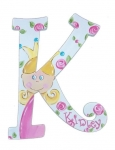Princess K Hand Painted Wall Letters