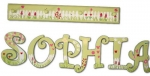 Garden Vines Hand Painted Wall Letters
