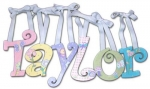 Pretty Flowers and Bugs Hand Painted Wall Letters