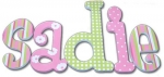 Dottie Daisy Hand Painted Wall Letters
