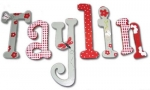 Taylin Flowers and Butterflies Hand Painted Wall Letters