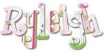 Ryleigh's Springtime Delight Hand Painted Wall Letters