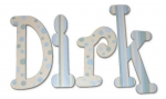 Dotted Dirk Hand Painted Wall Letters