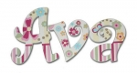 Ava Garden Delight Hand Painted Wall Letters