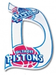 Pistons Hand Painted Wall Letters