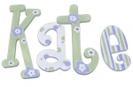 Lavender Lime Twist Hand Painted Wall Letters