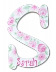 Rose Petals for Sarah Hand Painted Wall Letters