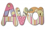 Ava's Tropical Punch Hand Painted Wall Letters
