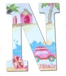 Beach Fun Hand Painted Wall Letters