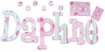 Daphne Delight Hand Painted Wall Letters