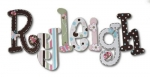 Ladybug Fun Hand Painted Wall Letters
