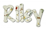 Zanzibar Riley Hand Painted Wall Letters