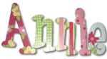 Splashy Annie Hand Painted Wall Letters