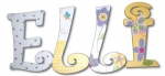 Springy Elli Hand Painted Wall Letters