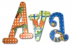 Ava's Animals Hand Painted Wall Letters