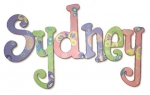 Butterfly Garden Hand Painted Wall Letters