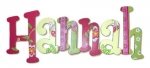 Springtime Delight Hand Painted Wall Letters