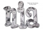 Central Park Toile Hand Painted Wall Letters