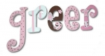 Alternate Pink Brownie Hand Painted Wall Letters