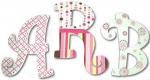 Pink Chocolate Bubbles Hand Painted Wall Letters