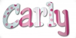 Pink Strawberry Truffles Hand Painted Nursery Wall Letters