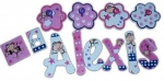 Lexi Monkey Hand Painted Wall Letters
