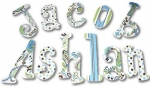 Cool Designs Boy Hand Painted Wall Letters