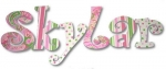 Cool Designs Girl Hand Painted Wall Letters