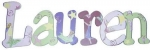 Fairy Lauren Hand Painted Wall Letters