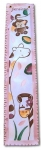 Painted Canvas Growth Chart - Jungle Pink