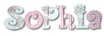 Soft Sophia Hand Painted Wall Letters