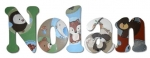 Forest Friends Bedding Hand Painted Wall Letters