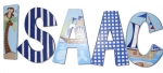 Nojo Ahoy Mate Hand Painted Wall Letters