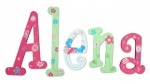 Tropical Butterfly Painted Wall Letters