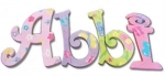 Flutters and Flowers Hand Painted Wall Letters