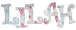 Shabby Chic Lilah Painted Wall Letters