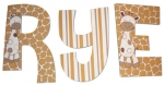 Snickerdoodle Giraffe Painted Wall Letters
