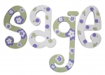Lavender Sage Painted Wall Letters