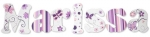 Purple Butterfly Whimsy Painted Wall Letters